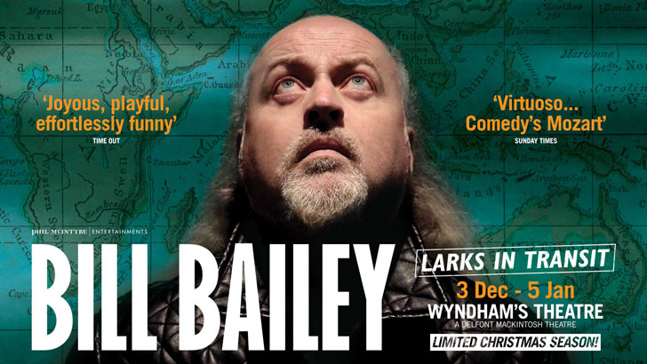 Bill Bailey - Larks in Transit at Wyndham's Theatre