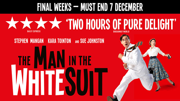 The Man in the White Suit and The Delaunay - Theatre Offer