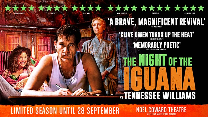 The Night of the Iguana at Noël Coward Theatre